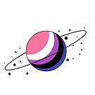 Genderfluid Pride Planet by SavaMari