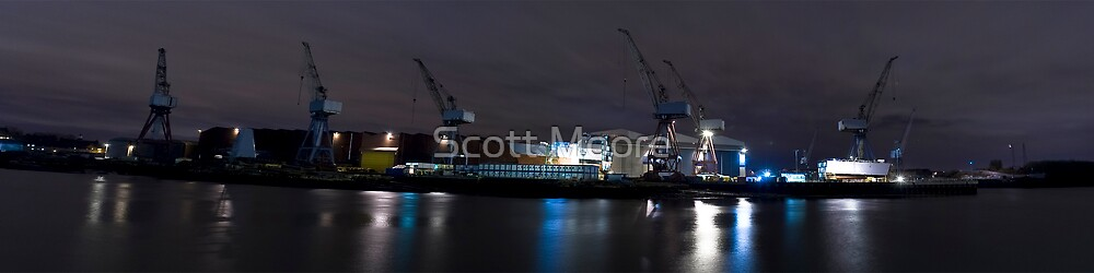 River Clyde Shipyard Panoramic by Scott Moore