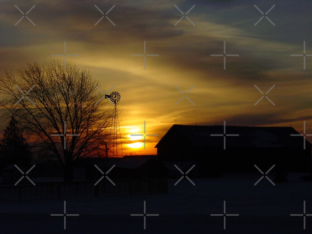 Sunrise in the country by Al Mullen