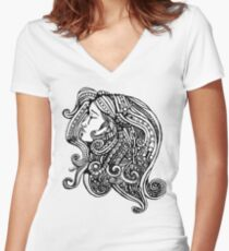 Burdened Women's Fitted V-Neck T-Shirt