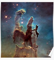 Hubble Space Telescope Print 0009 - 2014 Hubble WFC3 and UVIS Image of M16  - hs-2015-01-c-full_jpg Poster