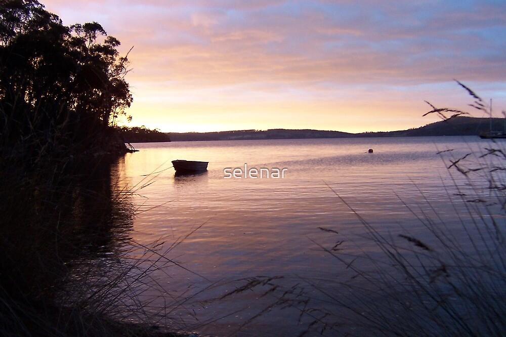 Lone boat 2 by selenar