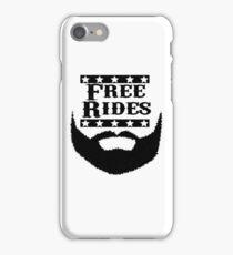 Free Rides Beard iPhone Case/Skin