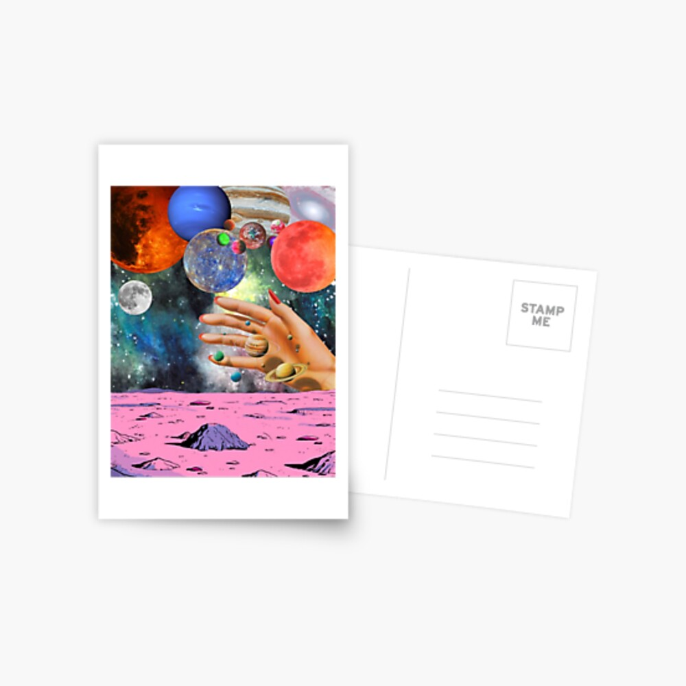Psychedelic space. Postcard