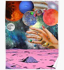 Psychedelischer Raum. Poster