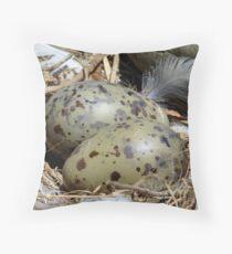 A Closer Look At The Nest - Gull Nest - NZ Throw Pillow