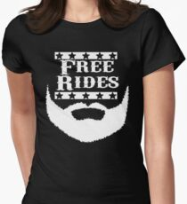 Free Rides Beard Womens Fitted T-Shirt