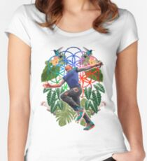 Drunk & High Women's Fitted Scoop T-Shirt