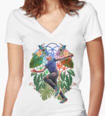 Drunk & High Women's Fitted V-Neck T-Shirt