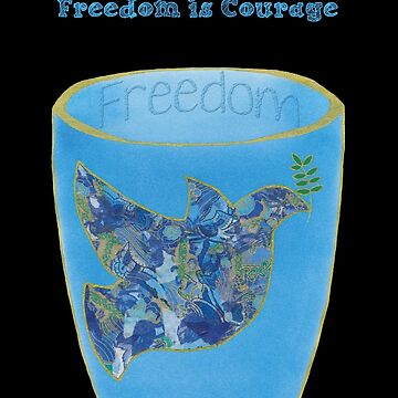 Freedom Cup - Blue txt by Meliesque