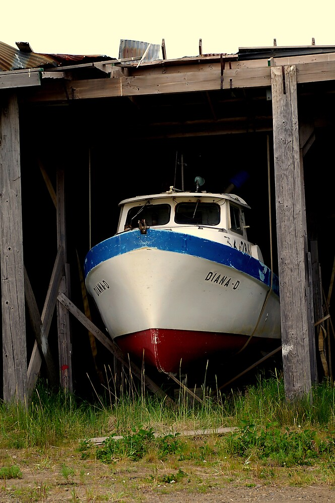 Retired Salmon Boat by Chris Popa