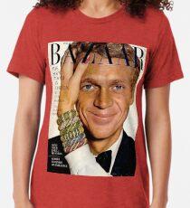 Steve McQueen Bazaar Cover  Tri-blend T-Shirt