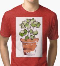 Herbs in pots - Parsley  Tri-blend T-Shirt