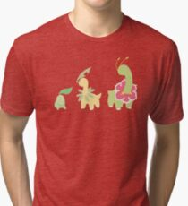 Chikorita Evolution Tri-blend T-Shirt