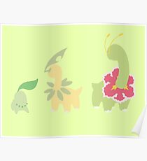 Chikorita Evolution Poster