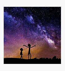 Rick And Morty (Space) Photographic Print