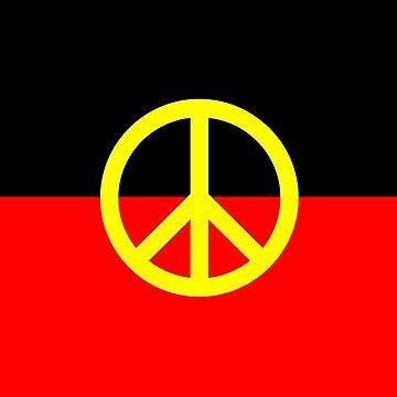 Aboriginal Peace Flag by ArchieMoore