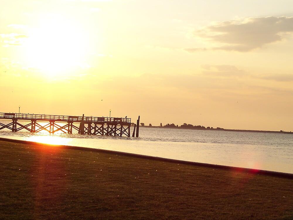 oak island sunset by dannielle