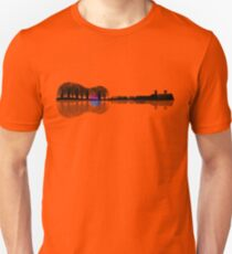Music instrument tree silhouette ukulele guitar shape T-Shirt