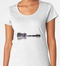 Music instrument tree silhouette ukulele guitar shape Women's Premium T-Shirt