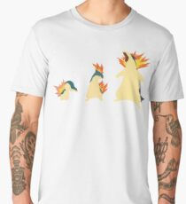 Cyndaquil Evolution Men's Premium T-Shirt
