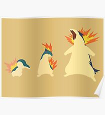 Cyndaquil Evolution Poster