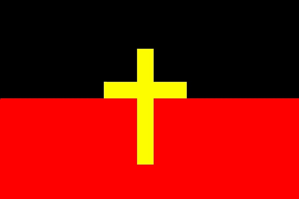 Aboriginal Christian Flag by ArchieMoore