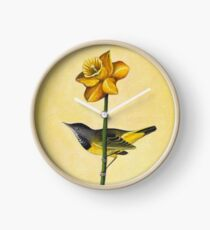 Bird & Daffodil Clock