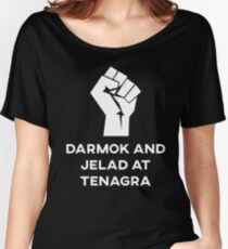 Darmak and Jelad at Tenagra Women's Relaxed Fit T-Shirt