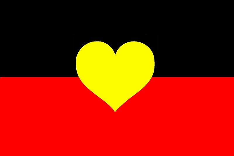 Quot Aboriginal Heart Flag Quot By Archiemoore Redbubble