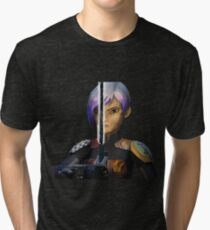 sabine wren darksaber Tri-blend T-Shirt