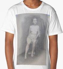 Seated nude Long T-Shirt
