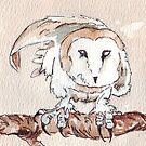My Barn Owls (female) by Maree Clarkson