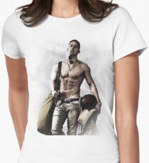 Hot Topless Channing Tatum Women's Fitted T-Shirt