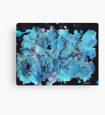 Abstract Blues & Black 52017 Canvas Print