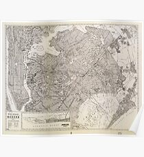 Metropolitan Map of Queens, New York (1922) Poster