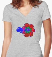 Rose Fitted V-Neck T-Shirt