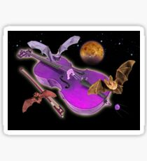 Cello Space Bats via Venus Sticker