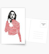 Striped Postcards