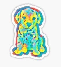 Cute Puppy Graphic Artwork Sticker
