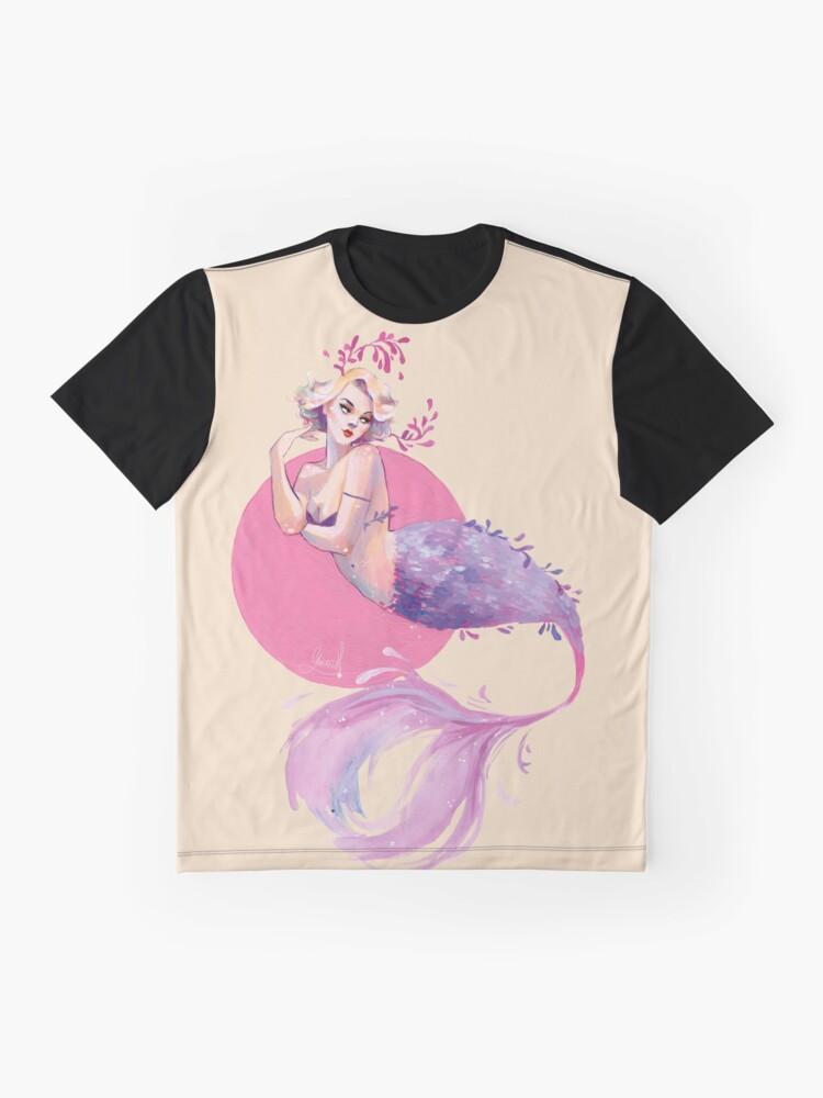 Vista alternativa de Camiseta gráfica Sirena lavanda
