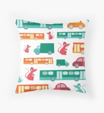 Zoom City Traffic Print Throw Pillow