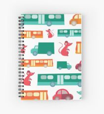 Zoom City Traffic Print Spiral Notebook