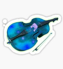 Double Bass Stellar Music Sticker