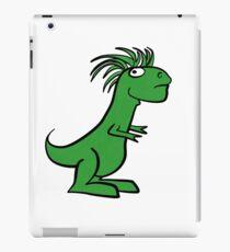 Funny Mohawk T Rex T Shirt iPad Case/Skin
