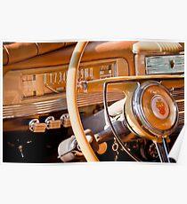1942 Packard Darrin Victoria Steering Wheel Emblem -0619c Poster