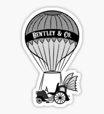 Vintage Style Contraption Print Sticker