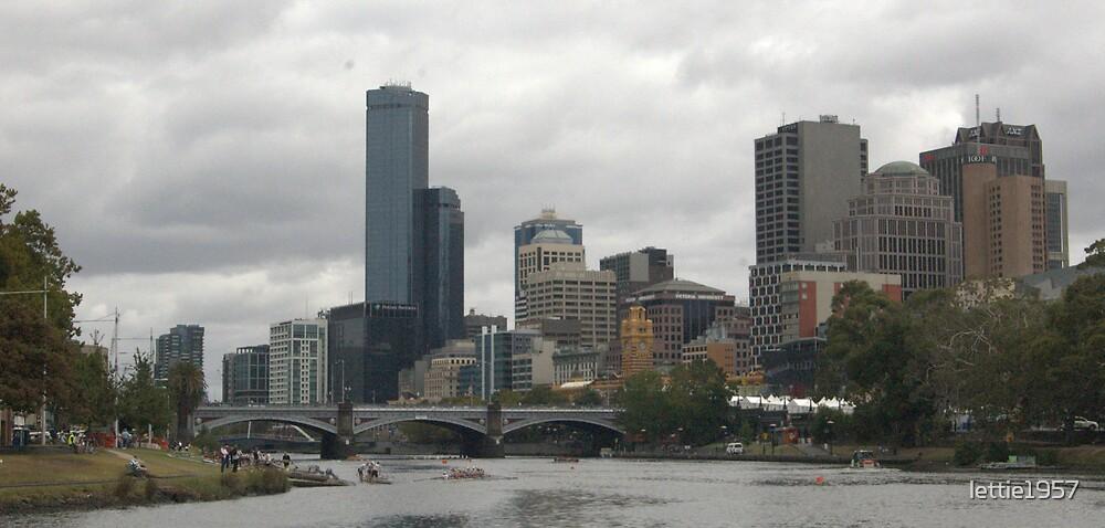 Melbourne City Skyline  by lettie1957