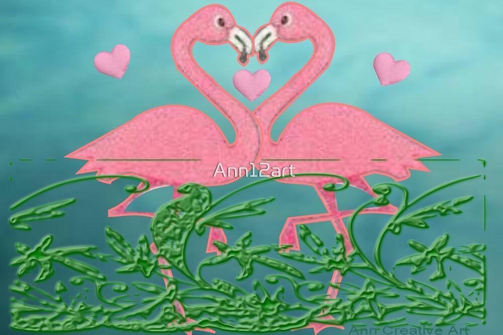Flamingos  by Ann12art