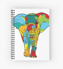 Pop Style Elephant Print Spiral Notebook